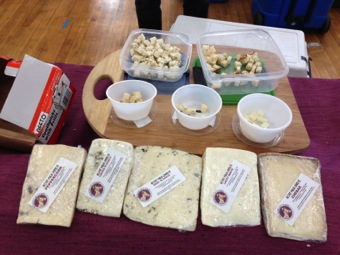 Goat cheese sampling courtesy of Hickory Nut Farm