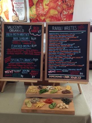 Valicenti Organico Pasta Varieties