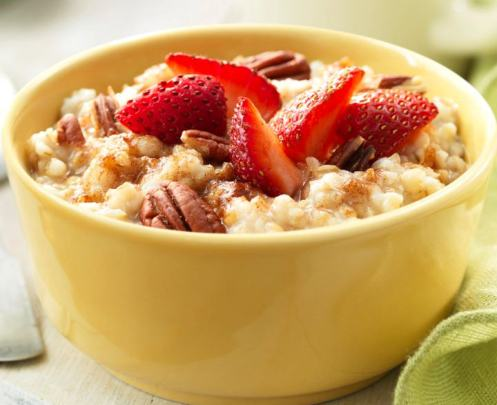 Oatmeal is yummy with pecans and strawberriesSource: Panera