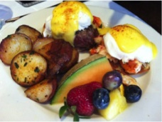 Atlantic Fish Co Filet Mignon Eggs Benedict
