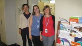 Karin Christianson (N15-FPAN, pictured center) and fellow interns at the United Nations Standing Committee on Nutrition (UNSCN) in Geneva, Switzerland.