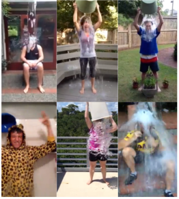 Family and friends take the Ice Bucket Challenge