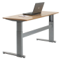 An adjustable-height desk