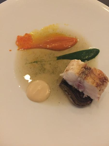 Monkfish: Tomato, fennel, garlic, saffron, salmon roe