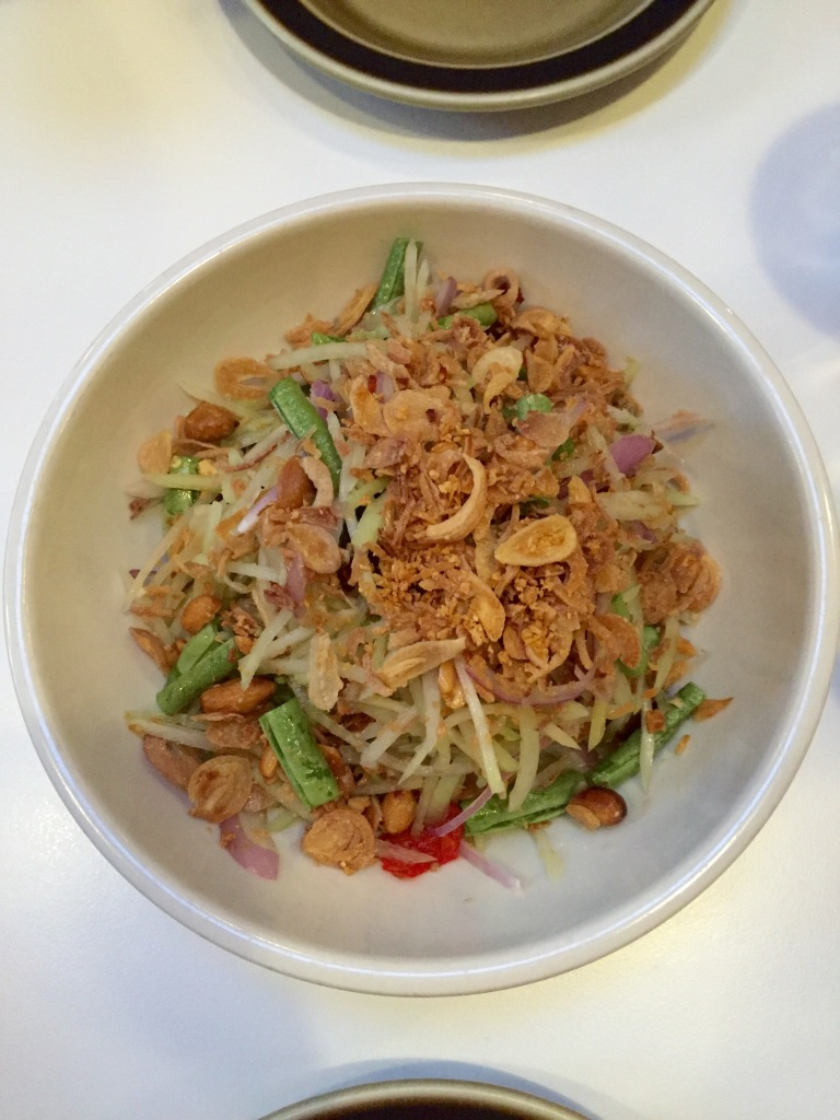 Green Papaya Salad at Little Big Diner. Photo: Julia Semetelli