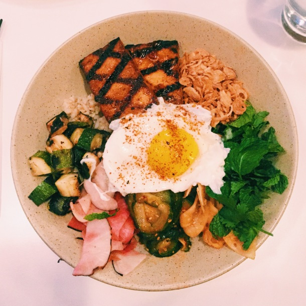 Tofu Bowl at Little Big Diner. Photo: Julia Sementelli