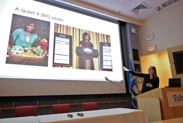 Helena Bottemiller Evich gave her keynote speech. Photo: Jeroen Eyckmans.