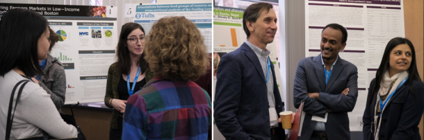 Faculty and student presenters at the poster session. Photo: Jeroen Eyckmans.