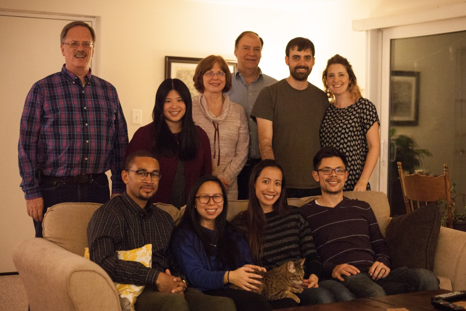This year our guests included some friends from undergrad, one friend's dad and cousin, and my husband's parents. We tried to make our meal both vegan-friendly and gluten-free where possible. Photo: Kathleen Nay