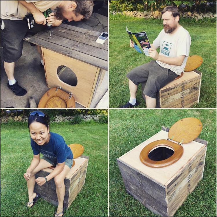 Yoko and Alex's DIY composting toilet. (Photo: Instagram @assawagafarm)