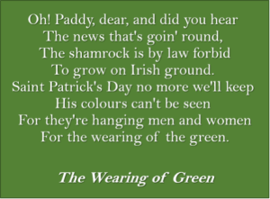 The Wearing Of Green (Lyrics: irishmusicdaily.com)