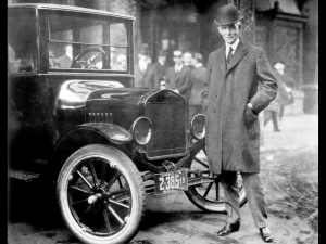 Henry Ford With 1921 Model T. (Image source: Ford Motor Company / Wikimedia)
