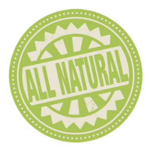 all natural health claim label