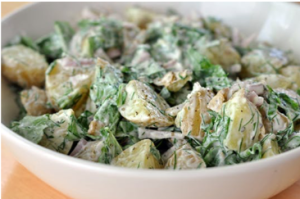 Fresh dill potato salad